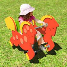 Качалка на пружине «Конь в яблоках»