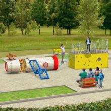 Детская игровая площадка «Челнок и сыр»