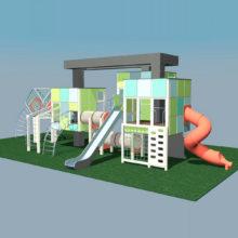 Детский игровой комплекс «Пирамиды города»