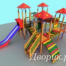 Детский игровой комплекс (мод.14204)