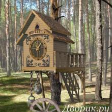 Домик на дереве «Часы»