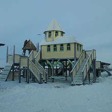 Закончен монтаж игрового комплекса в Горнолыжном комплексе «Казань»