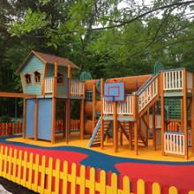 Новая детская площадка от Дворик.ру установлена в ДОЛ «Литвиново»