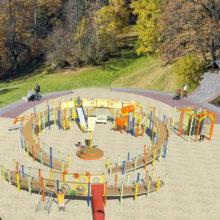 Игровой подиум — разновидность детского спортивного комплекса