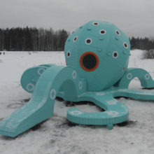Оборудование детских игровых комплексов в городском парке г.Краснознаменск