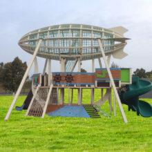 Детский игровой комплекс «Дирижабль». Парк г. Лениногорска (Татарстан)