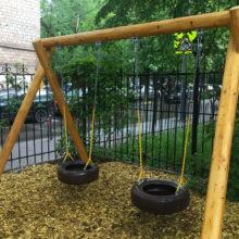Вредны ли отработанные шины на детской площадке?