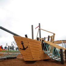 Детский игровой комплекс «Корабль». Набережная села Сарманово (Татарстан)