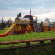 Детская игровая площадка «Паровоз» (мод.30051). Вокзал г. Зеленодольск
